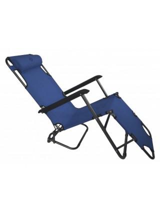Шезлонг лежак Bonro 153 см темно-синий (70000002)