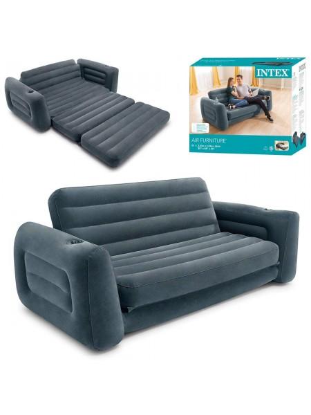 Надувной диван Intex 66552. Диван-трансформер 203 х 224 х 66 см.