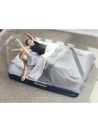 Надувная кровать BestWay 67600 (203х152х43 см.) - электронасос