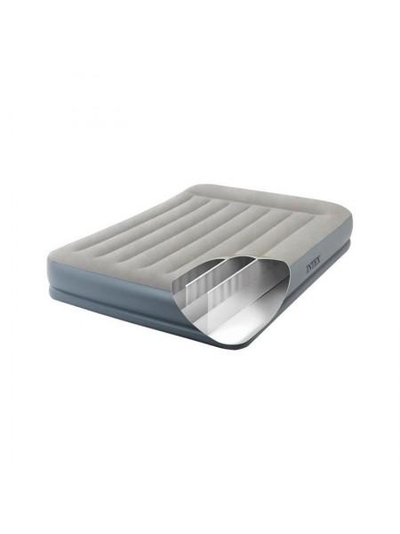 Надувная кровать Intex 64118 (152x203x30 см.) подголовник и электронасос.